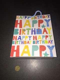 Happy birthday Paper bag
