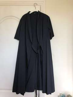 COS 全新 黑色 仿 Kimono 中袖外套 / 長裙