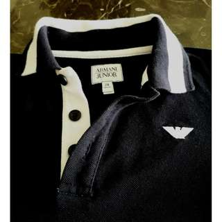 ARMANI JUNIOR . Navy blue kid's tshirt . Original.  Size 2A 94cm