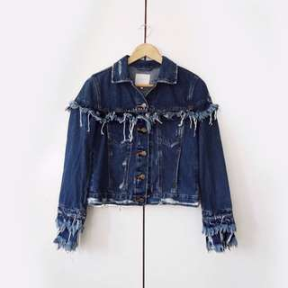 Zara Fringed Denim Jacket