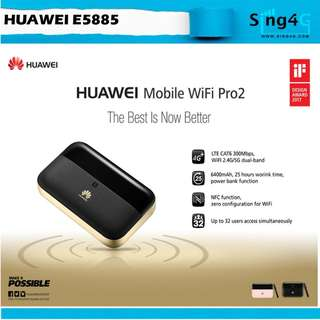 🚚 HUAWEI E5885Ls-93a Mobile WIFI Pro 2 (4G 300mbps 32WIFI Share Max 25hr)