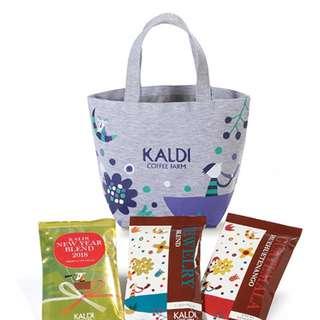特價@2018日本限定kaldi coffee farm新款高質感手提包便當包手提包