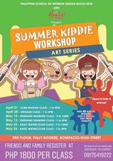 Summer Art Workshopd for kids of ALL AGES