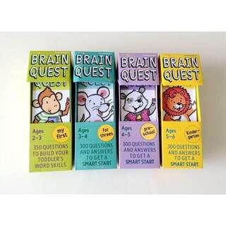 BNIB Brain Quest 4 set for Age 2-6