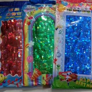 Metallic Tinsel Foil curtains (1m width 2m height)