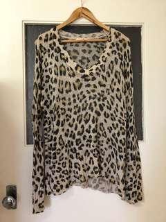 Sass & Bide Leopard Print Knit