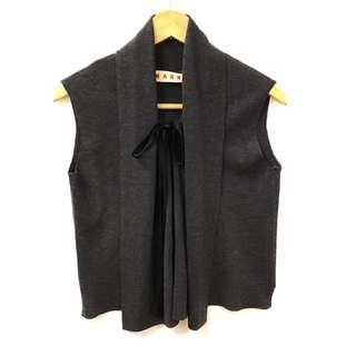 深灰色背心 Marni dark gray vest cardigan size 38