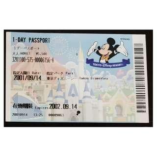 (1A) ONE DAY PASSPORT - TOKYO DISNEY, $15 包郵