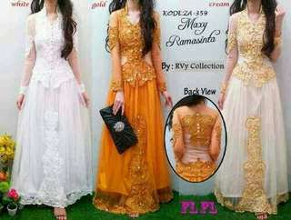 Maxi dress kebaya ramashinta tile + payet