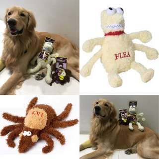 CLEARANCE Brand New dog toy plush flea and tick