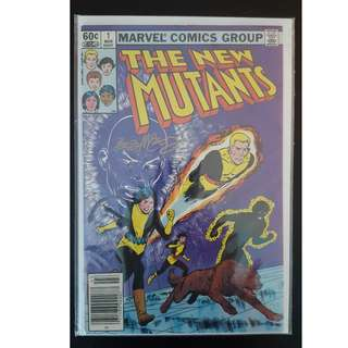 New Mutants #1 (1983) -1st Series, 1ST ISSUE! Signed by artist Bob McLeod, with C.O.A!