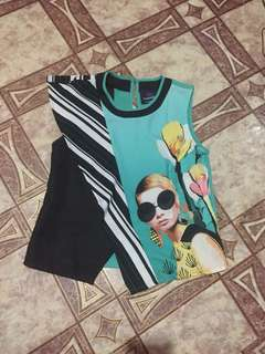 Cute Plains and Prints top