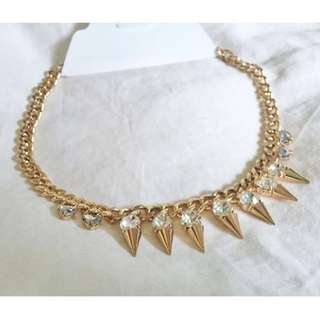 Le Chateau - Gold Water Drop/Spike Necklace