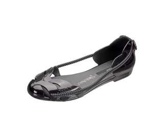 🚚 Melissa 香香鞋 巴西尺寸35,37(Mel 炫彩亮麗和尚風格 娃娃鞋-黑色)