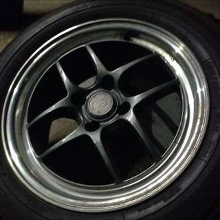 "🇯🇵MadeinJapan- Original Enkei CPS2- 15"" Rim With Tyre"