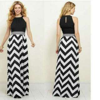 🍃Geometric Elegant Long Maxi Dress