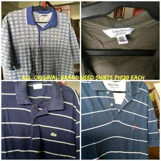Size LARGE Used assorted Men's Tops
