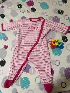 Pink Stripes Sleepsuit