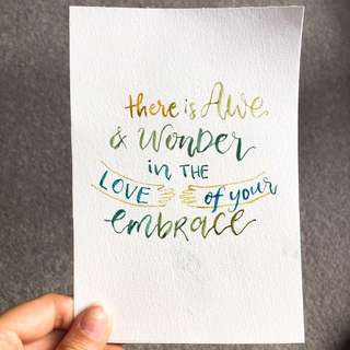 Watercolour lettering artwork