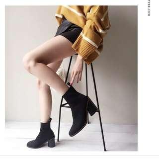全新Lovfee韓妞黑色襪靴#女裝半價