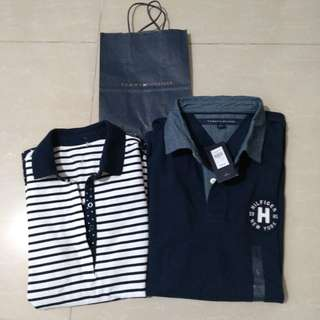 Auth Tommy Hilfiger couples polo shirt