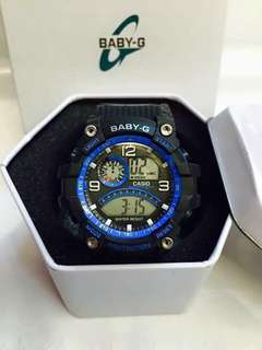 Baby-G watch with can