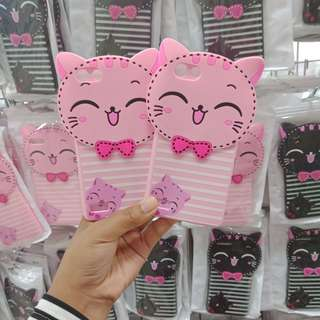 Grandbcs Case Softcase Cat Pink For Oppo Neo 7 A33