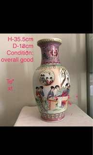 A Fine Porcelain Figural Vase