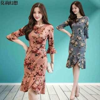 🍃Floral Formal Gingham Dress