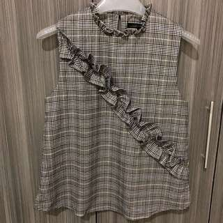 Zara checkered Top