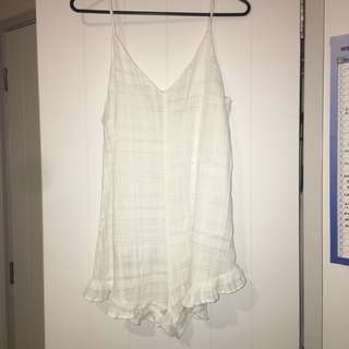 Glassons White Playsuit, Size S