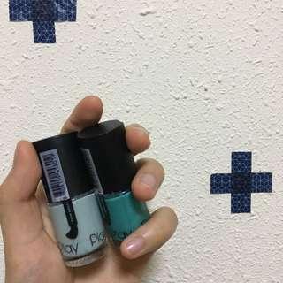 Etude House New Play Nail (Green Nail Polishes)💅