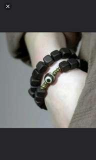 珠寶首飾系列 (黑檀木中國風手鍊) (田亮推廣系列) (包Buyup自取站取貨) (China style bracelet made of African Blackwood)