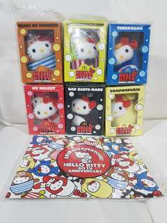 Brand New In Packaging Hello Kitty 40th Anniversary Full Collectors Set