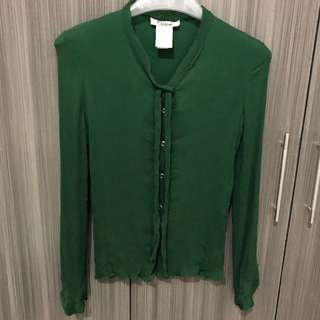 Blouse with strings