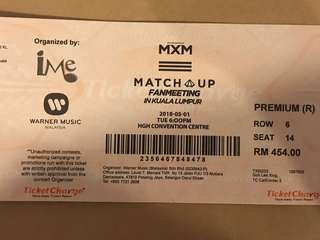 MXM IN KL Fanmeeting tickets