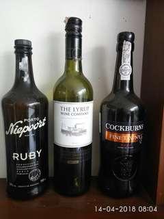 Botol kosong wine/anggur