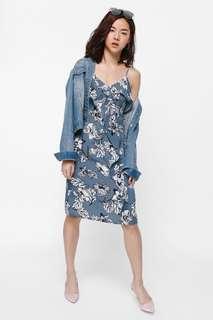 LB Manix Cascade Ruffle Floral Dress