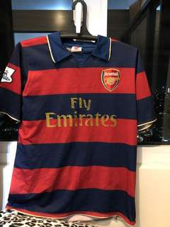 Emirates red/blue football jersey shirt