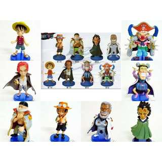 One piece all 8pcs size 7cm