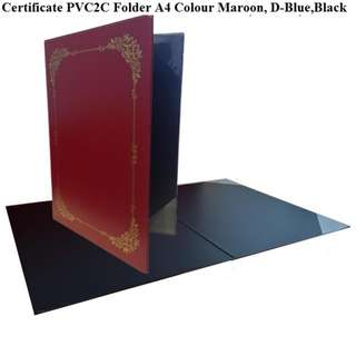 CERTIFICATE FOLDER PVC A4 WITH SILK SCREEN GOLD BORDER