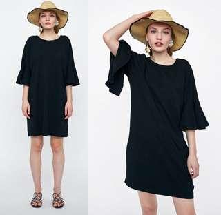 🚚 OshareGirl 04 歐美女士簡約喇叭袖T恤連身裙