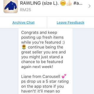 ✅THANKS for making us your HIGHLY RATED CAROUSELLER‼️ 😊👍🏻#abubaq🇲🇾. DONE