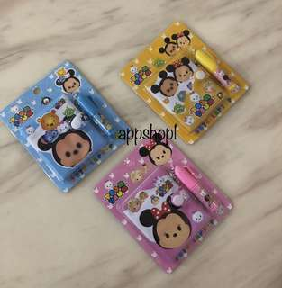 Tsum tsum small cute note set - goodies bag, goody bag gift, goodie bag packages