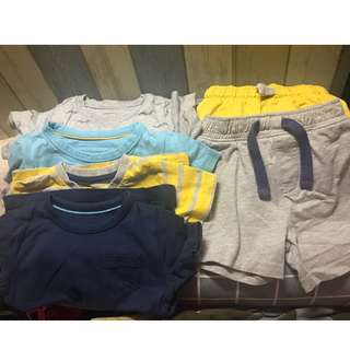 Preloved baby boy tops and bottoms -9-18mth