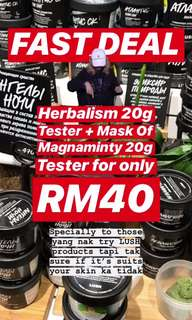 [READY STOCK] LUSH TESTER Mask of Magnaminty + Herbalism (20g)