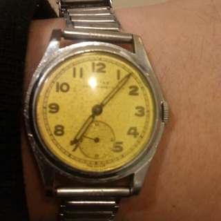 1940年二戰軍款上鏈錶配第一代鋼帶