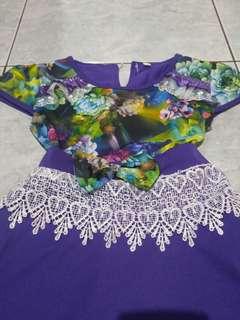Dress anak motif bunga murah meriah