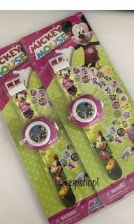 Mickey and Minnie projector watch - goodies bag, goody bag packages, goodie bag for kids