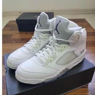 Air Jordan 5 AJ 白銀